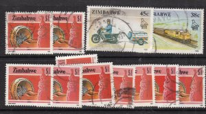 ZIMBABWE ^^^^sc#512,627,629 used  high values  $$@ lar3930zim