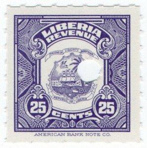 (I.B) Liberia Revenue : Duty Stamp 25c (ABN Specimen)