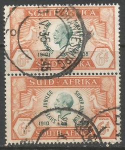 SOUTH AFRICA 71 VFU PAIR 118A