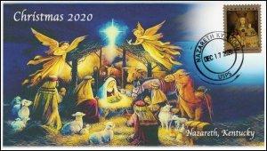 20-287, 2020, Christmas Nazareth KY, Event Cover, Pictorial Postmark, SC 5525