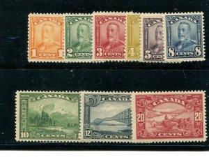 Canada #149-57  Mint VF NH   - Lakeshore Philatelics
