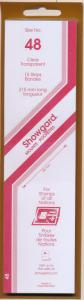 Showgard Stamp Mounts Size 48 / 215 CLEAR Background Pack of 15
