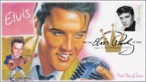 2015, Elvis Presley, FDC, Music Icons, Digital Color Postmark, 15-204
