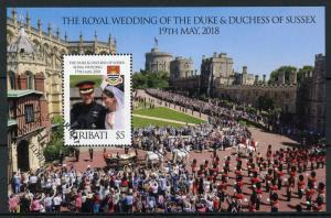 Kiribati 2018 CTO Prince Harry & Meghan Royal Wedding 1v M/S Royalty Stamps