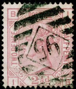 SG139, 2½d rosy mauve PLATE 2, USED. Cat £90. WMK ANCHOR. IB