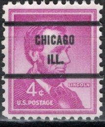 U.S.A.; 1954: Sc. # 1036; O/Used Pre-Cancelled Single Stamp