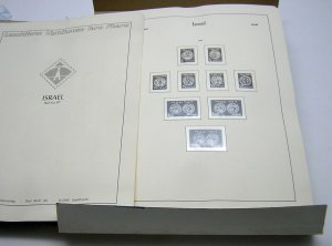 Lighthouse ISRAEL Album Pages Complete 1948-80 w/mounts NOT TABS NEW-NO STAMPS