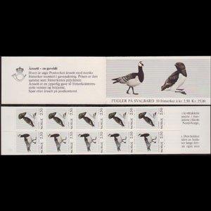 NORWAY 1983 - Scott# 822A Booklet-Birds NH