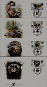 Kazakhstan 171-74 FDC WWF-97/Animals