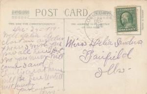 United States Missouri Koshkonong 1909 4a-bar  PC  Crease and small tear at top.