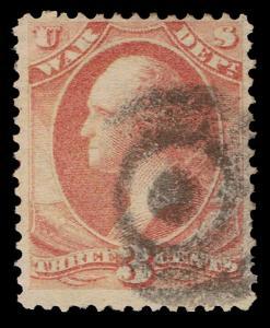 GENUINE SCOTT #O85 USED 1873 3¢ WAR DEPT OFFICIAL - FINAL ESTATE CLOSEOUT