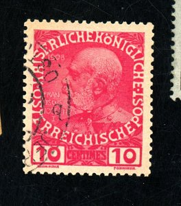 AUSTRIA IN CRETE #21 USED FVF QUESTIONABLE CANCEL