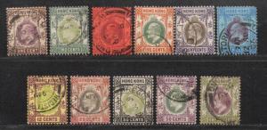 **Hong Kong, SC# 71-81 Used, FVF Partial Set, Wmk 2, CV $140.35
