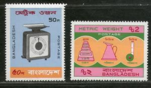 Bangladesh 1983 Metric Weights & Measures System Scale Sc 212-3 MNH # 2219