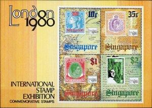 Singapore #352a International Stamp Exhibition London 1980 MNH