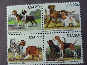 U.S.# 2098-2101(2101a)-MINT/NEVER HINGED--DOGS--BLOCK OF 4-1984