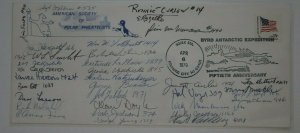 Society Polar Phialtelists SOJEX Byrd Arctic Expedition 1979 club group signed