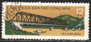 Vietnam. 1964. 318. Bridge over the river. USED.