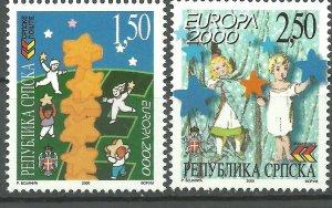 Bosnia Serbia 2000 EUROPA CEPT SET MNH