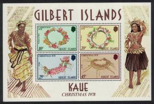 Gilbert Is. Christmas Kaue traditional head decorations MS SG#MS79