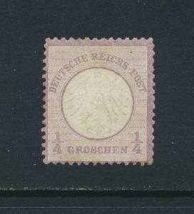 GERMANY 1872, ¼gr VIOLET  VF MLH Sc#1 CAT$200 (SEE BELOW)