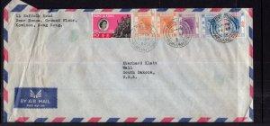 Hong Kong to Wall,SD 1962 Airmail Cover