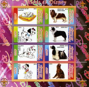 DOGS & DISNEY CARTOONS Sheet Perforated Mint (NH)