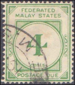 Malaya - Federation of Malaya #J3, Incomplete Set, 1936, Used