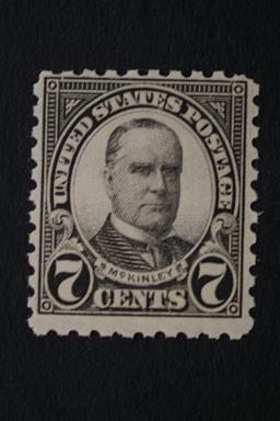 United States #588 7 Cent McKinley Perf 10 1926 MNH