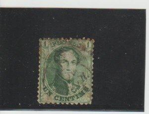 Belgium  Scott#  13  Used  (1863 King Leopold)