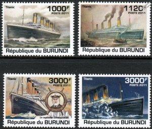 Burundi MNH 1006-9 Titanic 2011 SCV 12.50