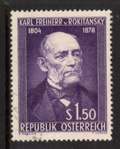 AUSTRIA SG1254 1954 VON ROKITANSKY(ANATOMIST) FINE USED
