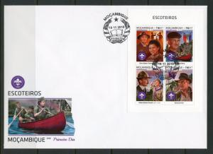 MOZAMBIQUE 2018 SCOUTS  SHEET  FIRST DAY COVER