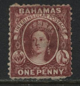 Bahamas QV 1863 1d lake mint o.g.