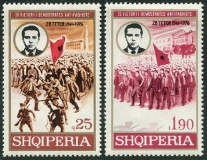 Albania 1750-1751, MNH.Mi 1863-1864. Anti-Fascist demonstrations,35th Ann.1976.