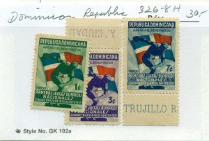 DOMINICAN REPUBLIC #326-8, Mint Hinged, Scott $30.00