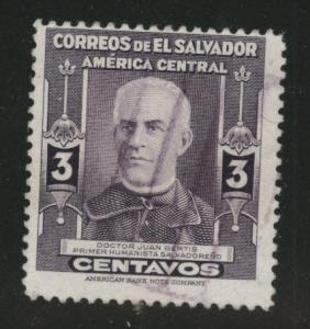 El Salvador Scott 598 Used from 1947 set