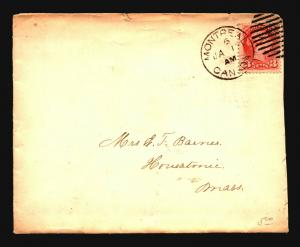 Canada 1800s Montreal Cover / Small Top Tears - Z15384