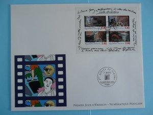centenary of cinema FDC block 1995