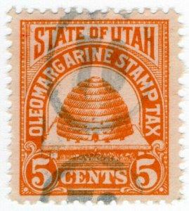 (I.B) US Revenue : Oleomargarine Stamp Tax 5c (Utah)