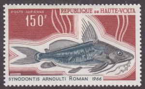 Burkina Faso C67 Upside-Down Catfish 1969