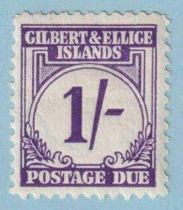 GILBERT & ELLICE ISLANDS J7 POSTAGE DUE  MINT HINGED OG * NO FAULTS EXTRA FINE!