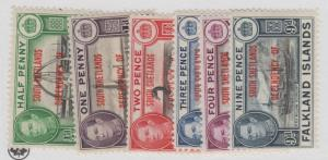 FALKLAND ISLANDS 5L1 - 5, 7 MINT HINGED OG * NO FAULTS EXTRA FINE