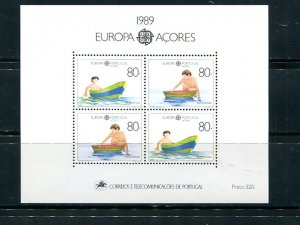 Portugal  Azores 1989 Europa mini sheet   Mint VF NH