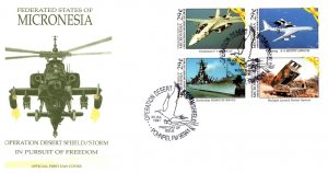 Micronesia, Worldwide First Day Cover, Aviation, Military Related, Helicopters
