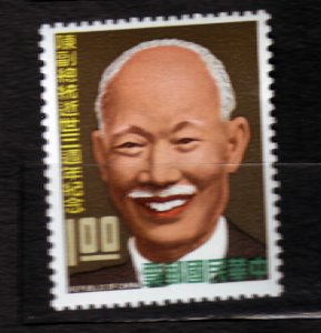 J22950 JLstamps 1968 taiwan set of 1 mlh #1565 cheng