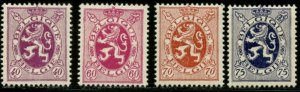 BELGIUM Sc#206, 208-210 1930 Added Values Complete as Issued Mint OG Hinged