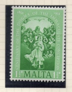 Malta 1954 Early Issue Fine Mint Hinged 1.5d. NW-104271