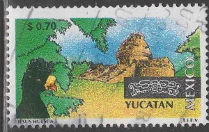 MEXICO 2120, $0.70 Tourism Yucatan, bird, archeology. USED. F-VF. (1493)