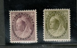 Canada #83 - #84 Very Fine Mint Lightly Hinged Duo
